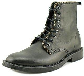 Aldo Gisiberto Men Round Toe Leather Black Boot.
