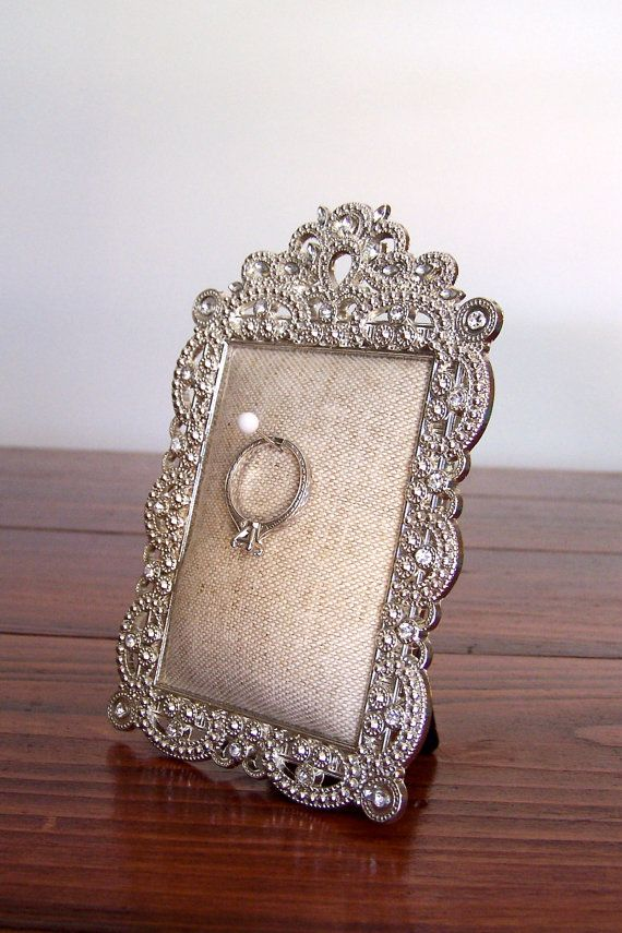 Ring Holder for Engagement or Wedding Ring: Natural Linen