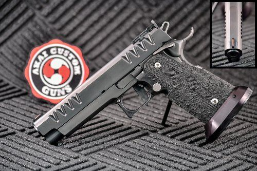 AKAI Custom Guns- Velocity V2 in 9MM This is a custom built performance handgun by one of the best custom gun builders in the United States. AKAI Custom Guns builds for many of the World