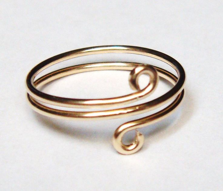 14K Solid Gold Ring Gold Toe Ring Wire Wrapped Ring or Toe