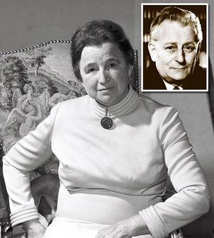 Božena Novotná, rozená Fridrichová, manželka Antonína Novotného