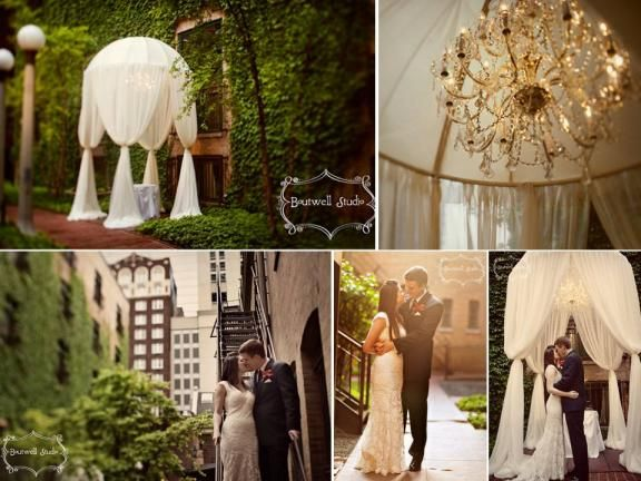 Stunning Outdoor Chicago Wedding Venue Covered In Ivy And Reception Venues Weddings