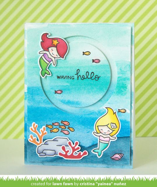 the Lawn Fawn blog: Video {6.7.16} Yainea's Spinning Mermaid For You Card