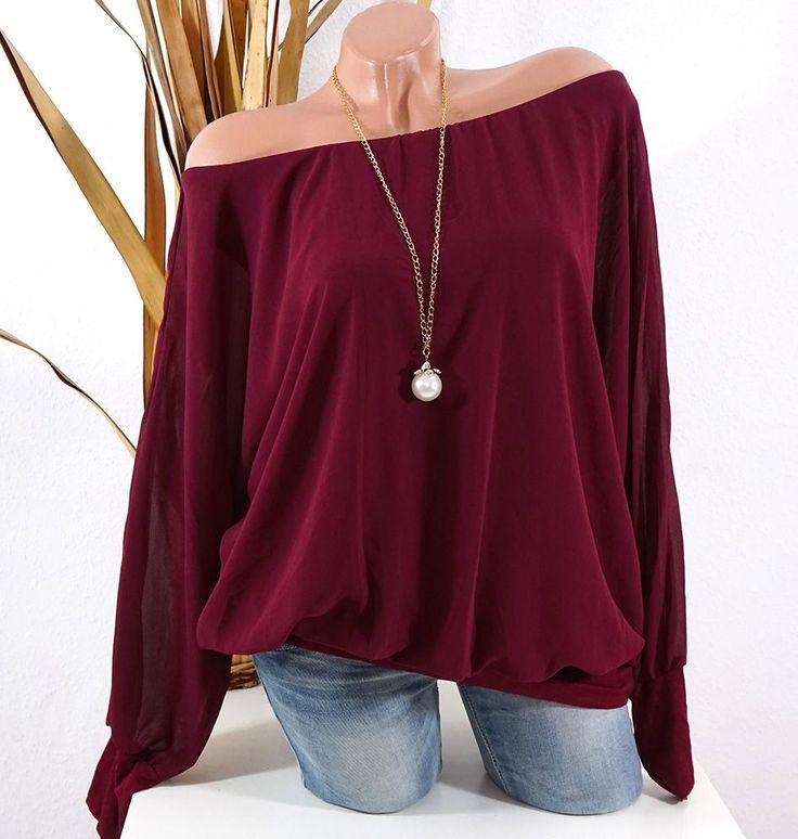 Damen Tunika Bluse Chiffon #fashion #mode #shopping