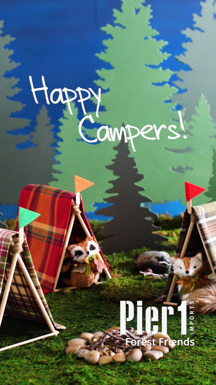 Camp craft time: We'll show you how to create a cozy napkin tent for holding napkins, flatware or forest friends!