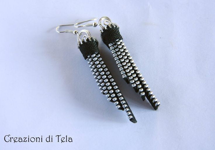 "Creazioni di ""TELA"": Orecchini zip 2"
