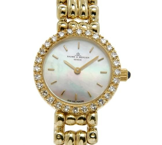 #Vintage Watch - #Baume 14K Yellow #Gold and #Diamond #Ladies #Preowned #Watch