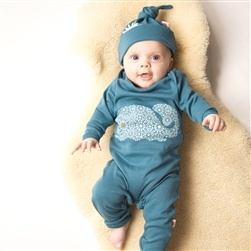 cute baby, cute babygrow out of organic cotton