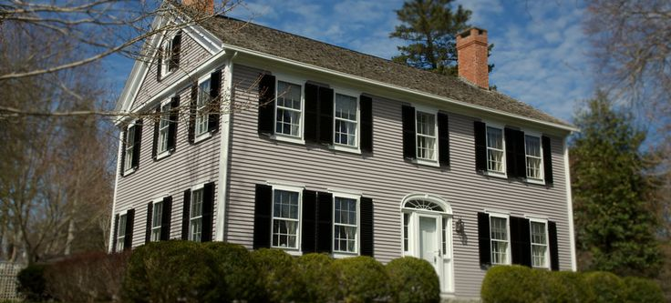 Historic Cape Cod Home With Our Exterior Louvered Shutters