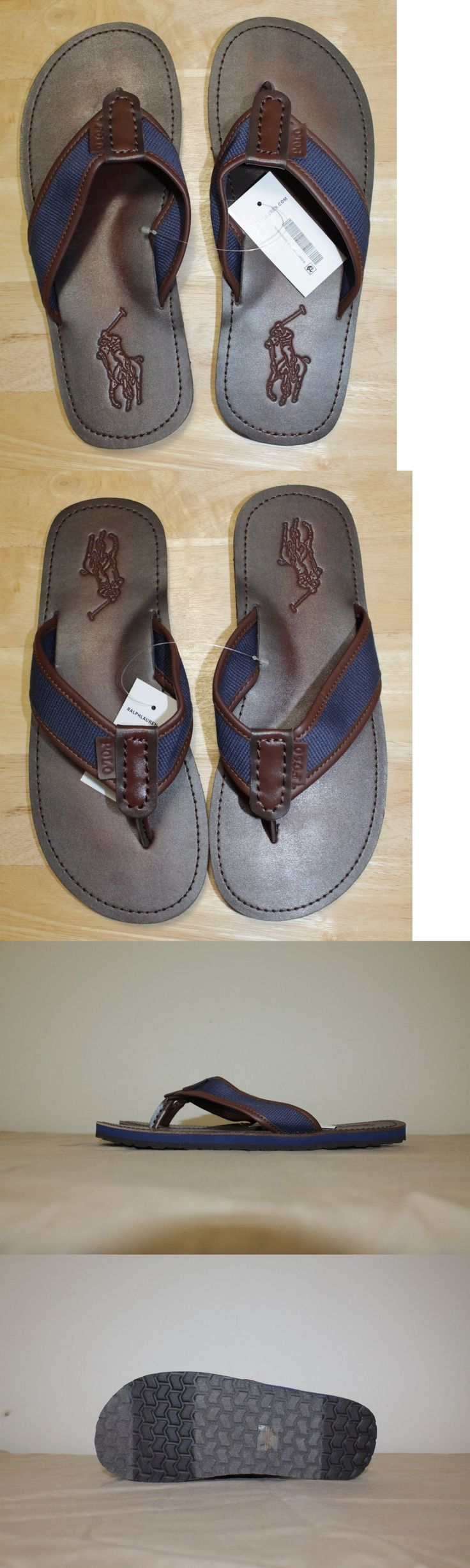 Sandals and Flip Flops 11504: Polo Ralph Lauren Men Leather Flip-Flops Size 8, 9 ,10 ,11 ,12,13 New With Tags -> BUY IT NOW ONLY: $45.88 on eBay!