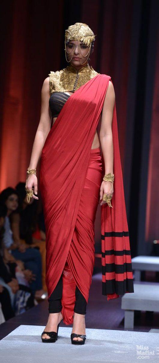 Saree drapes by Shantanu and Nikhil. perfection.