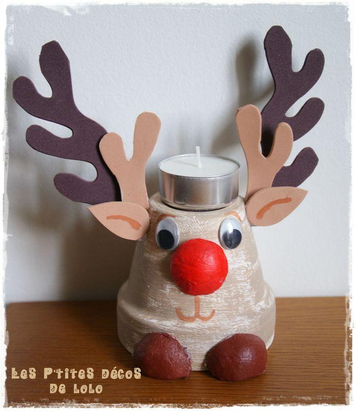 DIY bougeoir pour Noël : Robbie le renne