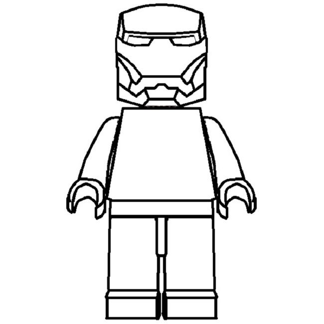 lego iron man coloring pages to