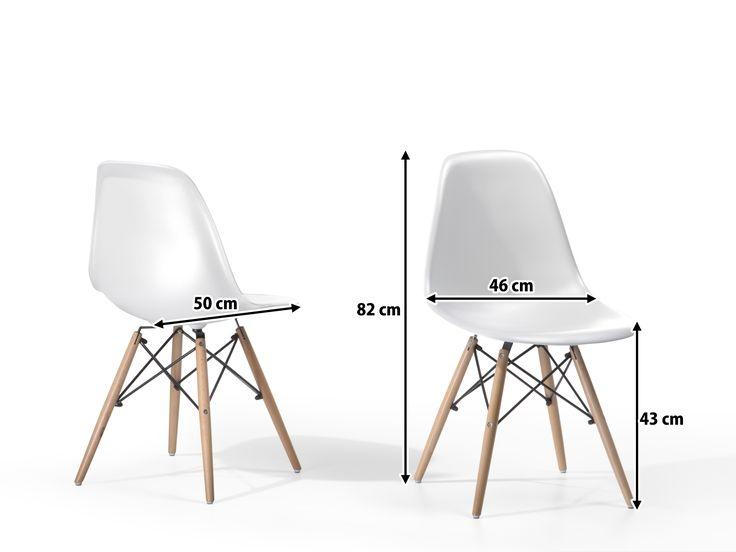 Krzesło do jadalni - Krzesło plastikowe - ELLIS białe www.beliani.pl