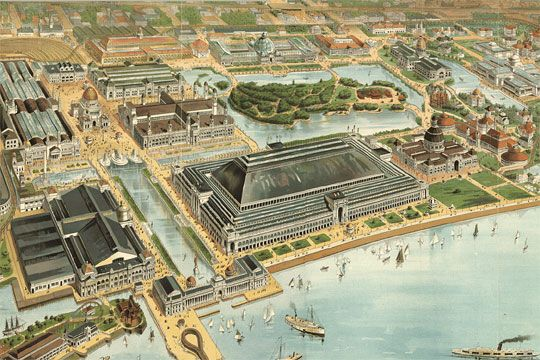 the 1893 worlds fair essay Watch video during the 1893 columbian exposition, holmes opened up his  holmes left chicago shortly after the world's fair to  //wwwbiographycom/people/hh-holmes.
