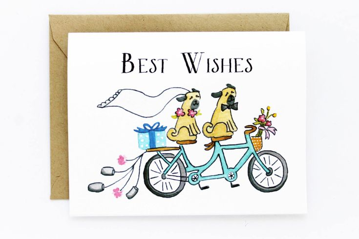 Wedding Best Wishes Card Just Married Congratulations