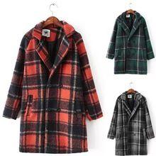 Женские пальто 2014 зимнее шерстяное пальто женщины старинные свободного покроя шерстяное пальто тренчи женский верхней одежды одежда с . м . L(China (Mainland))