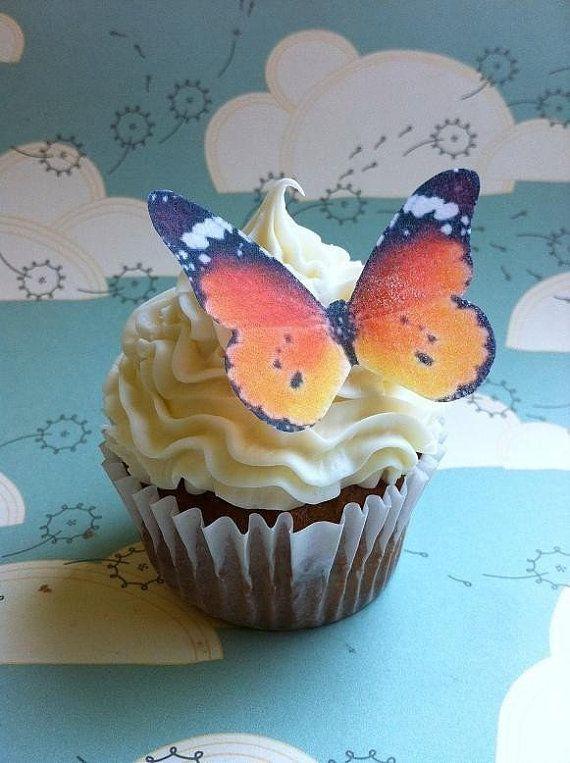 EDIBLE Butterflies The Original  Wedding Cake & by SugarRobot, $8.95