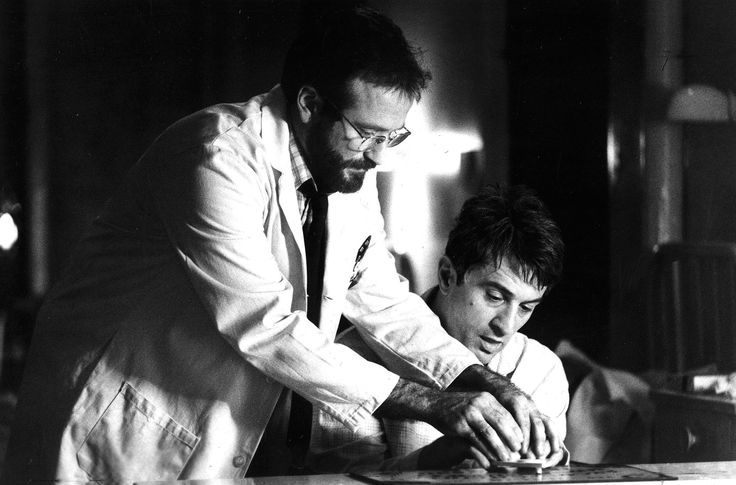 "Robin Williams and Robert DeNiro in ""Awakenings,"" based on the book by Oliver Sacks. Dir. Penny Marshall."