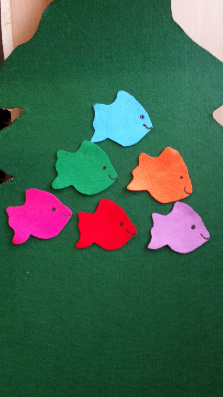 Colored fish, learning colors and counting