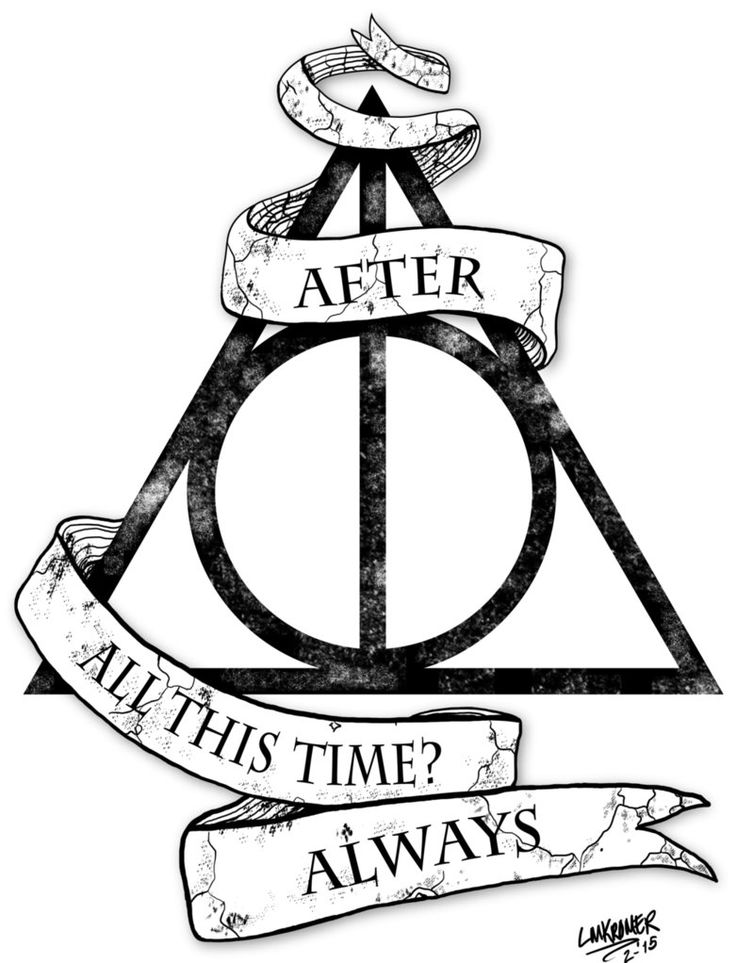 Harry Potter Deathly Hallows Tattoo Design by Misformac