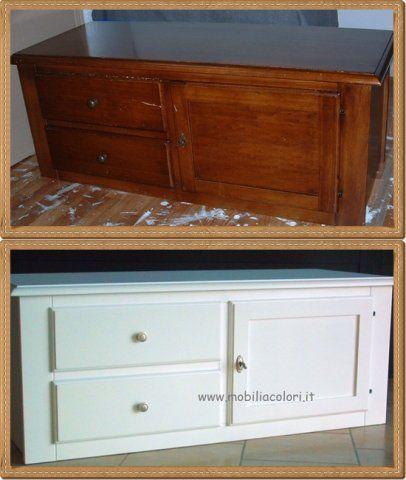 17 migliori idee su mobili dipinti su pinterest pittura - Verniciare i mobili della cucina ...