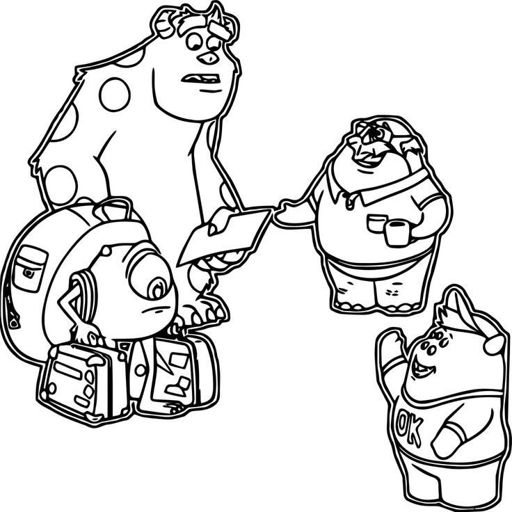 Monsters University Coloring Pages - Best Coloring Pages ...
