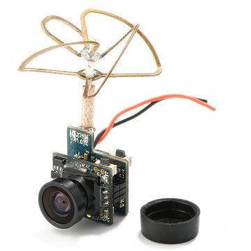 Super Mini Light AIO 5.8G 48CH 25mW VTX 520TVL 1/4 Cmos FPV Camera PAL/NTSC for QX90 QX95 E010 Sale - Banggood.com