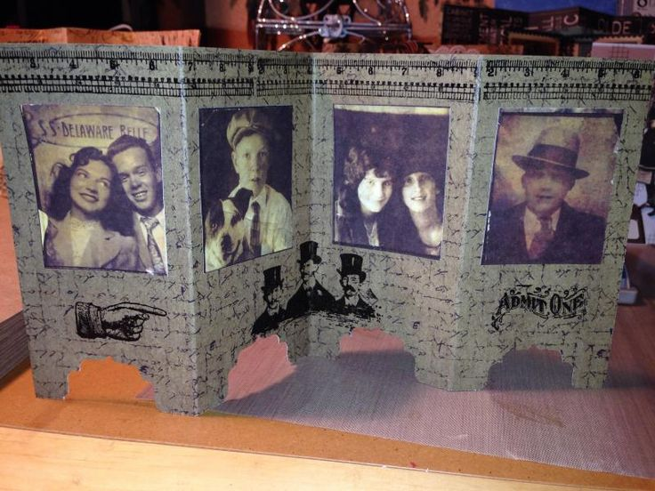 Rustic, Old-Timey Photograph Screen Divider Card by TJC - Cards and Paper Crafts at Splitcoaststampers