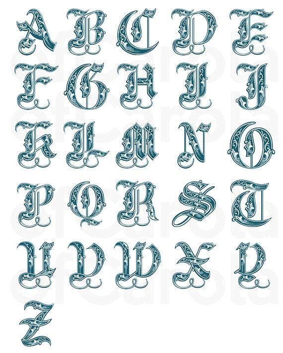 7 besten Letters, numbers, tattoos Bilder auf Pinterest | Schreiben ...