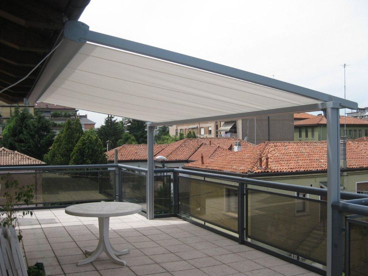 The Eureka Conservatory Awning is designed to mount above glass roofs and pergolas but can also be fitted with posts to create a retractable pergola.