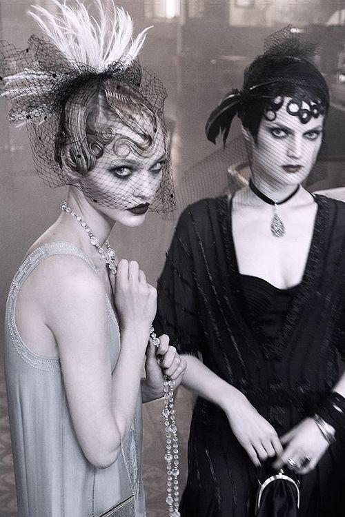Sasha Pivovarova & Guinevere Van Seenus by Steven Meisel | Vogue US