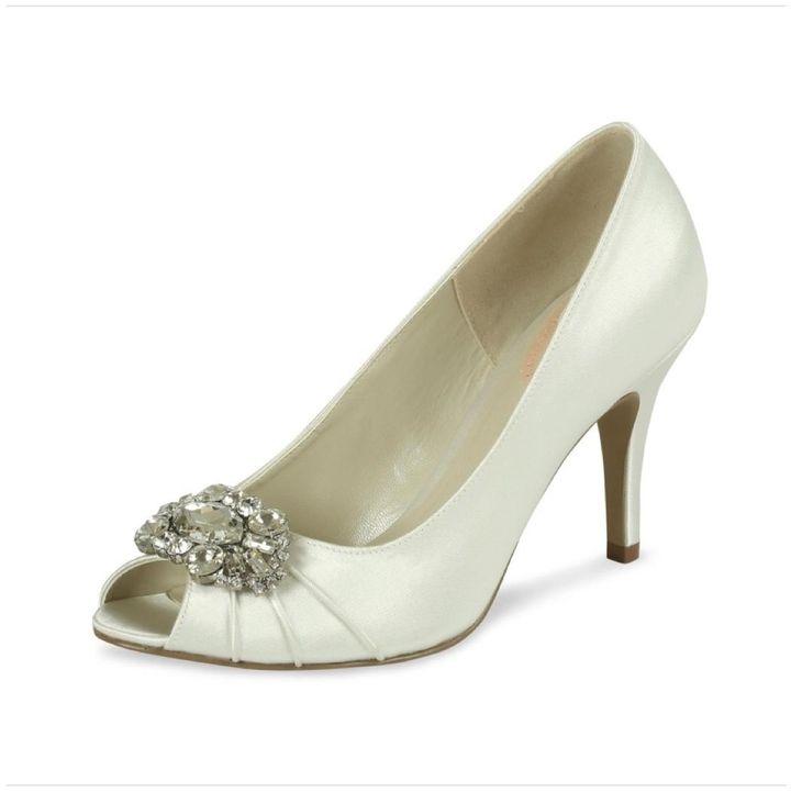 pink paradox London Tender Ivory Satin Shoes #bridal#wedding#crystal#chic#elegant #http://shopstyle.it/l/c89O