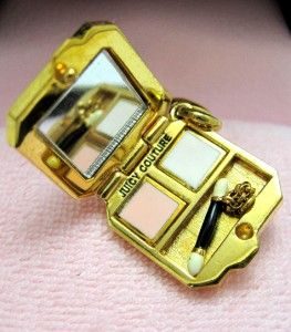 retired juicy couture  charms | ... Juicy Couture Eyeshadow Compact Charm With Crystals NIB Retired | eBay