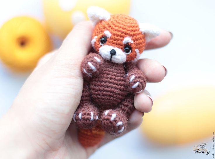Купить Красная панда амигуруми вязаная игрушка - рыжий, красная панда, амигуруми красная панда