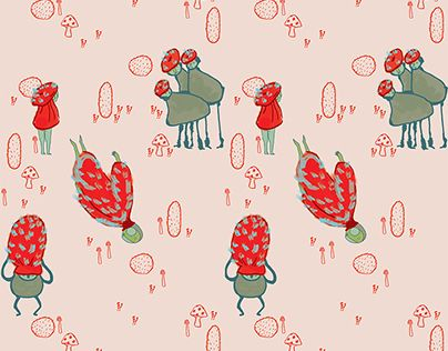 """Check out new work on my @Behance portfolio: """"Cacti and Mushrooms"""" http://on.be.net/1C7gOLX"""