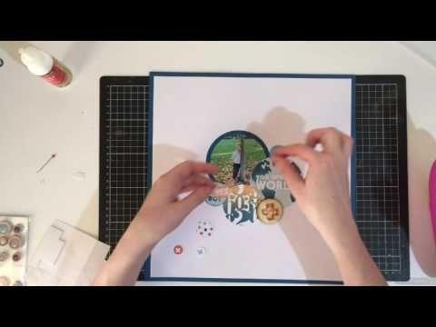 Kitaholic Kits - June Kits - Scrapbooking 12x12 Process video with Rachel