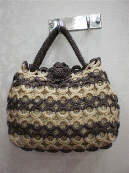 Handmade Crochet Knit Circle design bag Hobo women from fashionrivets by DaWanda.com