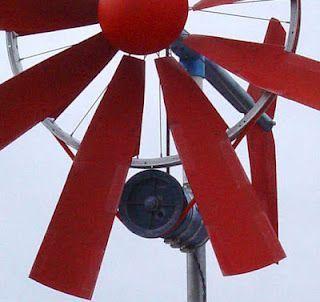 homemade windmill with alternator...