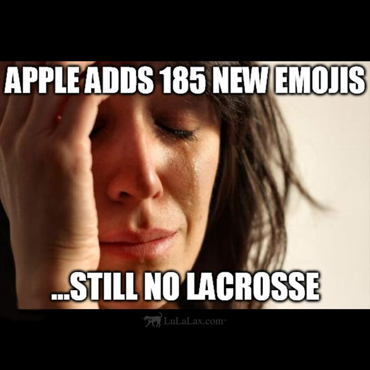 Apple adds 185 new emojis...still no lacrosse. The struggle is real! </3 LuLaLax.com