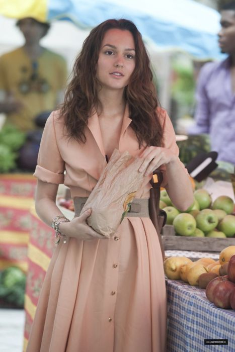 Looooved the peach shirt dress that Leighton Meester wore as a cover-up in the movie Monte Carlo. #Glamour #DIY #FASHION