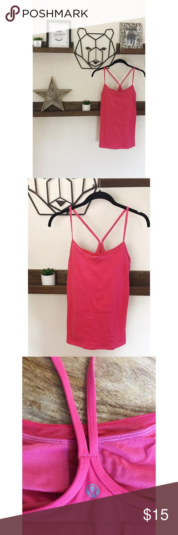 [LULULEMON] Power Y Tank Top EUC • still plenty of life left. Has a small mesh detail on the front. Very minor pilling, price reflects ❤️ no cups or size dot found, runs close to a medium. I would gather either a 6 or 8. make me an offer!  Stock images to show fit. Flow freely through your practice in this racerback skinny-strap tank with built-in support. Slip a layer over top to transition seamlessly to post-sweat coffee dates. lululemon athletica Tops