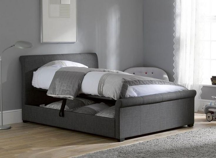Wilson Upholstered Ottoman Bed Frame In 2019 Bedroom