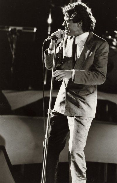 Robert Palmer at Ontario Place (Toronto, Ontario) on August 12, 1991.  Row 3.  Revolving stage.  Excellent show.