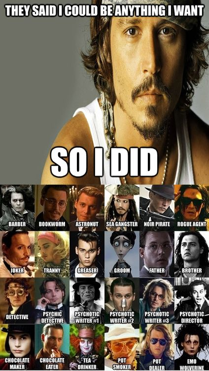 Johnny Depp - You can be anything you want, anyone you want.