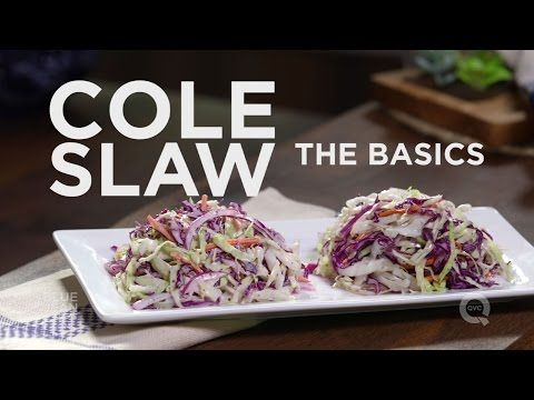 Coleslaw 2 ways! Blue Jean Chef Meredith Laurence teaches you how to make creamy coleslaw and a vinaigrette coleslaw. Full coleslaw recipes below (in the des...