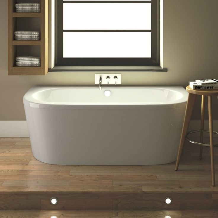 Hudson Reed Ludlow Back To Wall Bath with Front Panel & Legset - 1700 x 800mm - BLU002