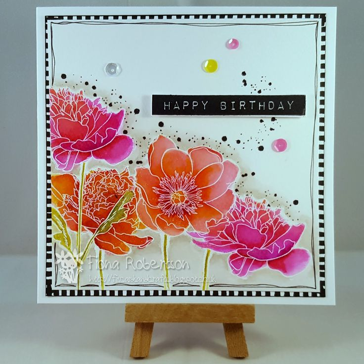 Fi's cards and crafts: A bit of watercolouring...