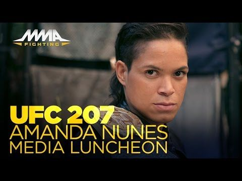 UFC 207: Amanda Nunes Media Lunch Scrum