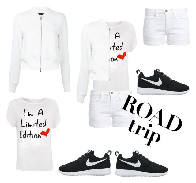 """""""ROAD TRIP"""" by supersupercoolio-ana ❤ liked on Polyvore featuring WearAll, Frame, Theory, NIKE and plus size clothing"""